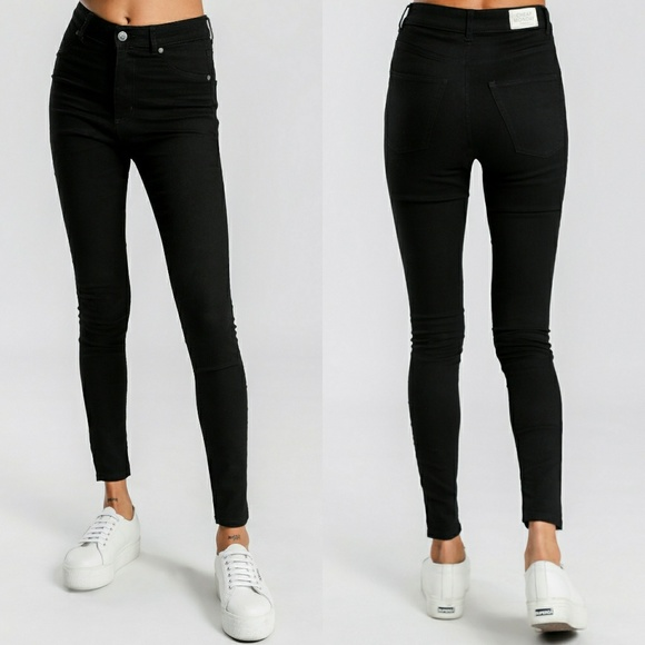 Cheap Monday ASOS High Spray Waisted Skinny Jeans